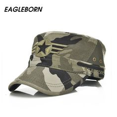Eagleborn 2017 Army Flat Top Mens Caps Hat Adjustable Star embroidery Solid Cotton Cap Baseball Casual Military Hats For Men-in Military Hats from Men's Clothing & Accessories on Aliexpress.com | Alibaba Group