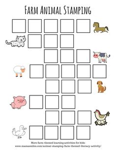 Adorable farm themed literacy activity for kids - stamp the letters, practicing sight words and letter recognition.