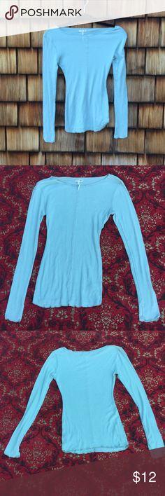 Light blue, light long sleeve Light and comfy long sleeve shirt Free People Tops Tees - Long Sleeve