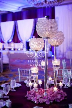 Suhaag Garden Weddings, Florida Indian Wedding Decorator, California Indian Wedding Decorator, San Fransisco Indian Weddings, Crystal Candelabras with White Flowers, Reception Stage Decor, Pakistani Wedding, Valima Stage, Walima Stage, Unique Reception Designs, Modern Reception Centerpieces, Reception Bride and Groom Focal Point, Textured Lighting, Plum Silver & White, Silver Sequins, Silver Manzanitas, Crystals, Reception Stage Furniture: