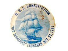 U.S.S Constitution Old Ironsides Pinback Button Launched Oct 21 1797 USS Constitution US Navy Ship Wooden Hull Badge Round Metal Pin by CollectionSelection on Etsy