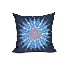 E by Design Sea Wheel Geometric Print 26-inch Throw Pillow