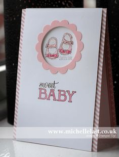 Baby card using Baby, We've Grown from Stampin' Up! by Michelle Last www.michellelast.co.uk