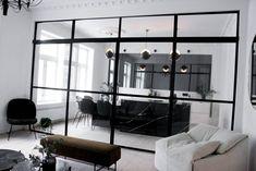 Min fantastiske glassvegg - LENE ORVIK Oversized Mirror, Lens, Living Room, Interior, Furniture, Windows, Home Decor, Outfits, Home