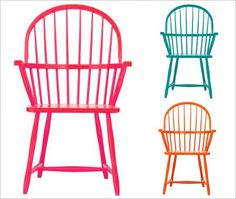 High end designers are taking classic lined furniture and updating with bright colors....pretty cool !!!