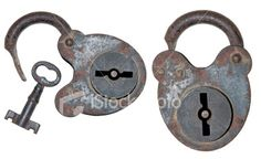 Antique Lock and Key Royalty Free Stock Photo