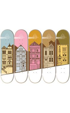Victorian Skateboard Deck Series
