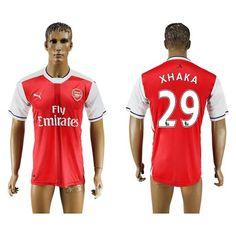 Arsenal 16-17 Xhaka 29 Hjemmebanetrøje Kortærmet.  http://www.fodboldsports.com/arsenal-16-17-xhaka-29-hjemmebanetroje-kortermet.  #fodboldtrøjer