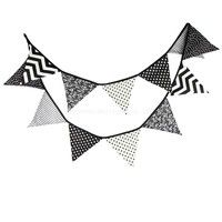 [Product] pennants, garland, flags    [Material] cotton    [Color] black    [Size] Total Length: 3.3m