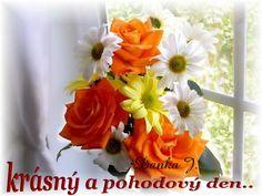 Hezký den obrázky, citáty a animace pro Facebook (stránka 8) - ObrazkyAnimace.cz Flower Bouqet, Flowers, True Love, Perfume, Rose, Plants, Beautiful, Facebook, Night