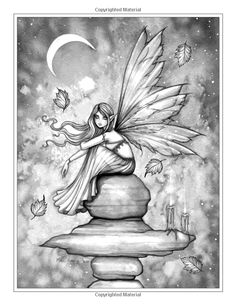 autumn magic grayscale coloring book autumn fairies witches and more molly
