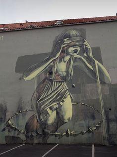 """Faith47 """"Chant"""" New Mural For Nuart '13 In Stavanger, Norway"""