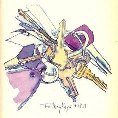 keys-ink-watercolor-sketch-chris-carter-artist-072911
