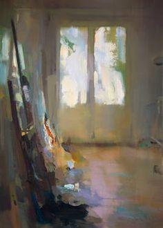 """Interior #107,"" original figurative painting by artist Carlos San Millan (Ecuador) available at Saatchi Art #SaatchiArt"