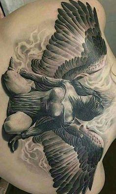 Angel Back Tattoo, Full Tattoo, Full Back Tattoos, Hd Tattoos, Black Tattoos, Body Art Tattoos, Sleeve Tattoos, Sword Tattoo, Armor Tattoo