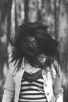 Free download of this photo: https://www.pexels.com/photo/close-up-of-girl-in-forest-249953/ #wood #light #black-and-white