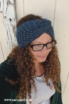 The Madison Ear Warmer – Savlabot Baby Hat Knitting Patterns Free, Knit Slippers Free Pattern, Knit Beanie Pattern, Beginner Knitting Patterns, Knit Headband Pattern, Christmas Knitting Patterns, Free Knitting, Knitting Tutorials, Knitting Machine