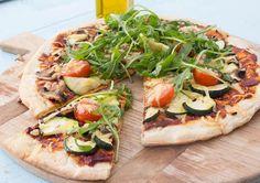 Pizza met verse groenten
