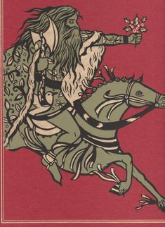 """Sir Gawain and the Green Knight"". Translated by Simon Armitage. Illustrated by Diana Sudyka, 1988 (Folio Society)"