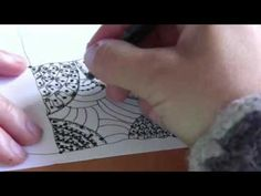 Zendoodle Sampler Zentangle Pattern Styles Tutorial 1
