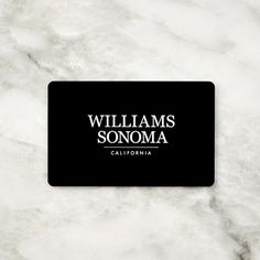 Williams Sonoma Gift Card, $100