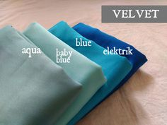 Diverse hijab velvet with color variants aqua , baby blue, electric blue, ready to make your colorful day ... More info : 0812 2560 2359
