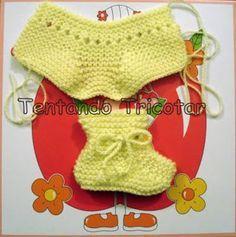 Tentando Tricotar: Sapatinho Aladim - receita da Vera - COM RECEITA