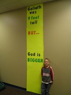 Sunday School Crafts - David and Goliath