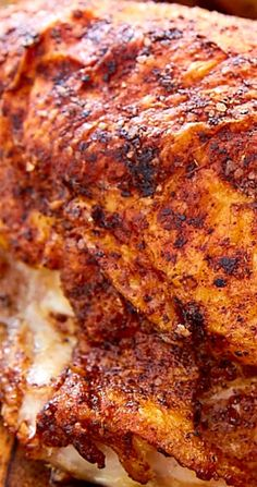 Crispy Oven Roasted Chicken Breast - Chicken and Turkey Dinners - Oven Grilled Chicken, Fried Chicken Thigh Recipes, Crispy Roasted Chicken, Moist Baked Chicken, Roasted Chicken Breast, Roast Chicken Recipes, Roasted Turkey, Rotisserie Chicken, Beef Steak Recipes