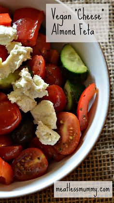 How you can make your own non-dairy feta cheese that's just as good as the real thing!