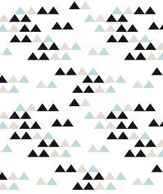 Origami Play Driehoekjes Mint  - Behang (L)