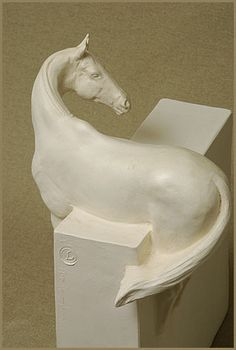 Horse sculpture by Susan Leyland - 'Curious'