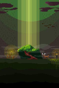— Pixel-Tree Created by Mitya Neradzinsky Pixel Games, Game Design, Pixel Art, Retro, Create, Movie Posters, Film Poster, Retro Illustration, Billboard