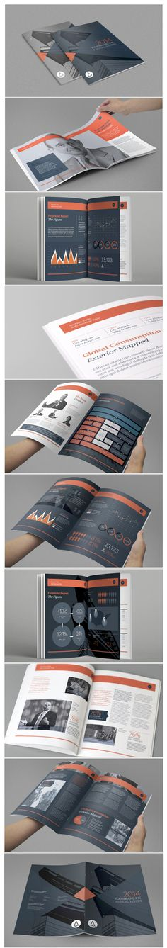 Annual Report by RW DS  Several inclusion of graphic elements to benefit both the text and imagery. The use of graphic elements is well maintained throughout with the same style applied to the diagrams of graphs and their infographics