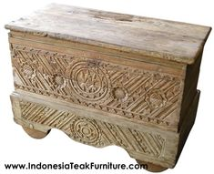 Teak Wood Chest Trunk Table Furniture Size Approximately: HLD Bali Furniture, Trunk Table, Trunks And Chests, Wood Chest, Panel Art, Teak Wood, Wood Paneling, Java, Wood Carving