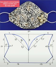 Sewing Hacks, Sewing Crafts, Sewing Projects, Easy Face Masks, Diy Face Mask, Sewing Stitches, Sewing Patterns, Crochet Vest Pattern, Diy Mask
