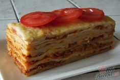 Lasagne s rajčaty, sýrem a šunkou Penne, Pancakes, French Toast, Sandwiches, Recipies, Food And Drink, Breakfast, Lasagna, Recipes