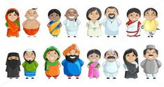 Indian Couple of different Culture. Vector illustration of Indian couple of different culture royalty free illustration Indian Illustration, People Illustration, Cute Illustration, Diversity Poster, Unity In Diversity, Unity In Art, India Poster, Independence Day Background, Culture