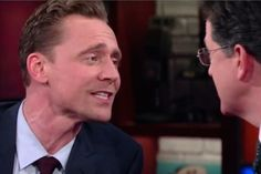 Tom Hiddleston Duets with Stephen Colbert