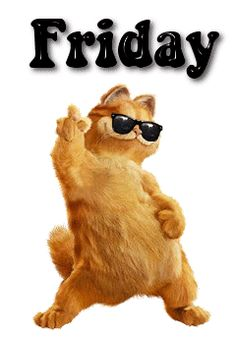 Happy Friday Dance GIF | Happy Friday love Garfield in all he does, this is so cute!