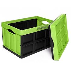 (Pack of 3) Clever Crates Collapsible Solid Wall Storage Container, Kiwi Green, 46 Liter (48.6 Quart) Clever Crates http://www.amazon.com/dp/B00XO1N1XU/ref=cm_sw_r_pi_dp_ALTUvb0QW8R7D (4 sets each - total of 12 per person, me + 6 consultants)