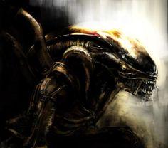 Xenomorph Warrior Speedpaint  - Art by Leucove