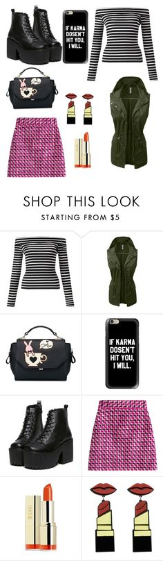 """""""The not so dark side"""" by julia-biavatti-rocha ❤ liked on Polyvore featuring Miss Selfridge, LE3NO, Casetify, MSGM and Milani"""