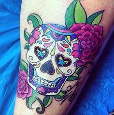 my sugar skull tattoo :3 <3