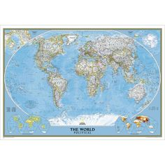 Decorate your wall with this large world map by national geographic large hd world map classrooms office home decoration detailed antique poster wall chart cotton cloth canvas painting 2 size gumiabroncs