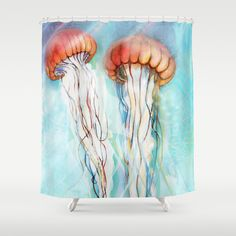Jelly+Fish++Shower+Curtain+by+Felicia+Atanasiu+-+$68.00