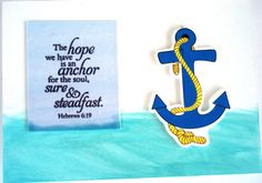 ANCHOR Verse decor.  The hope we have is an anchor by WordofGod, $16.50