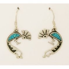 Kokopelli Turquoise Southwest Earrings Sterling Silver 925 (Jewelry)  http://www.pinteresting-devlopments.com/product.php?p=B007R5UGA0  B007R5UGA0