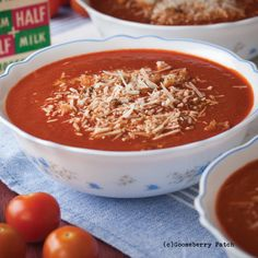 Gooseberry Patch Recipes: Sunday Meeting Tomato Soup from 150 Hearty Homestyle Recipes Cookbook