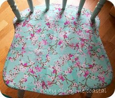 decoupage chair...nice step by step directions & pics
